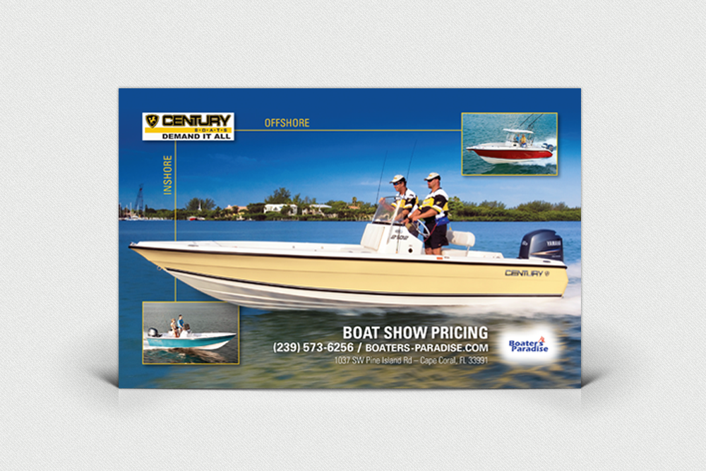 Century Boat Advertising Design Project